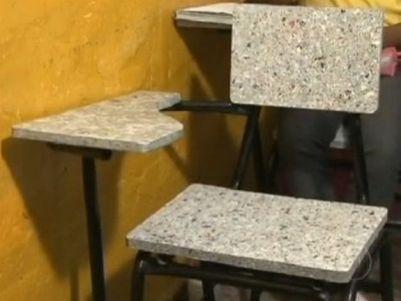Reciclagem - cadeira escolar