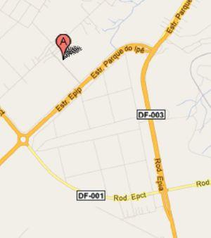 No Google Map, todas as ruas e avenidas do Setor Catetinho já estão demarcadas