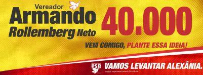 Por pressão do tio xará, no final da campanha, o material de divulgação eleitoral passou a contar com a expressão Neto.