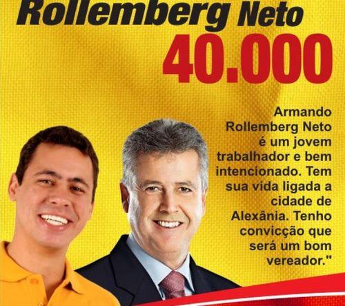 Apesar do apoio do outro tio, senador Rodrigo Rollemberg, Armando Rollemberg Neto não chegou a ser eleito. Ficou na 22ª posição, com 164 votos.