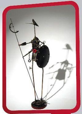 A exposição, com obras do Bruxo da Sucara, abre o projeto Artista do Bairro, em Taguatinga.
