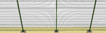 Alguns alambrados serão removíveis e outros fixos, chumbados no solo e chegarão a 2,5 metros de altura. Fonte: Pnud