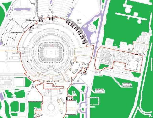 Durante as Copas das Confederações e do Mundo, o Mané Garrincha se assemelhará mais a um forte apache do que a um estádio de futebol.