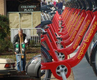 Washington aplica uma política que desestimula o uso de carros,com a cobrança de estacionamentom e investe muito em boas e seguras ciclovias e ciclo-faixas. É grande a quantidade de bicicletários para as bikes particulares, bem como a oferta de bicicleta pública para aluguel. Foto: Chico Sant'Anna