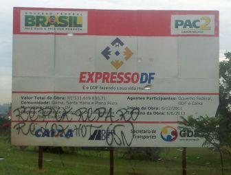 Obra do Expresso DF vai atrasar, pelo menos,seis meses. Custo também já é outro. Foto: Chico Sant'Anna