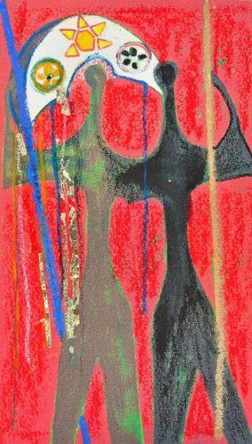 O monumento Dois Candangos, em homenagem aos operários pioneiros que atuaram na construção da Capital Federal, ganhou, com toda justiça, no olhar de Júlia um adereço nordestinom o chapéu de couro.