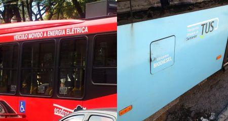 Em cidades como Santander, na Espanha, e São Paulo, no Brasil, o uso de combustivel não poluente é uma constante no transporte coletivo. Em Brasíia, a opção foi óleo diesel.