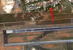 Aeroporto Pista vista aérea Google