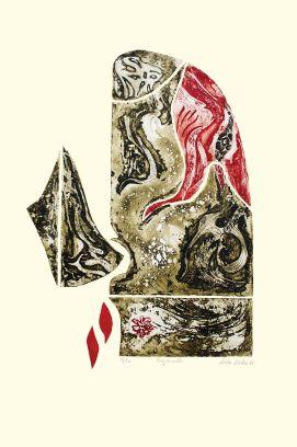 Gravura: Fragmentos, de Lêda Watson