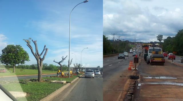 BRT - Corredor Aeroporto Eixão com e sem árvores