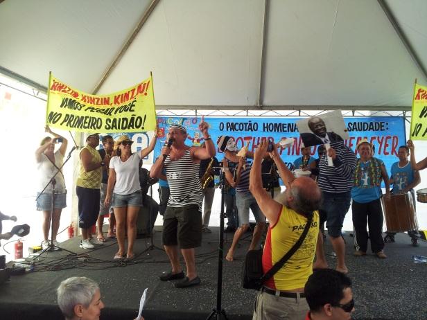 No Concurso de Marchinhas do Pacotão, realizado em 1º de fevereiro,