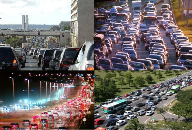 engarrafamentos em Brasília