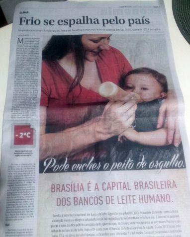 Na propaganda, GDF dá destaque à mamadeira