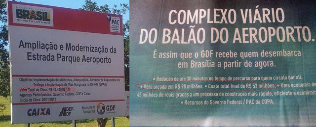 Obra das reformas do Balão do Aeroporto ficou 22% mais cara do que o inicialmente previsto.