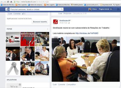 No perfil do facebook do SindSaúde-DF, aparece uma foto da reunião com a Secretaria de Telações do Trabalho-MTE, mas o link para o texto que provavelmente explicaria os motivos da perda da Carta Sindical, não funcionava.