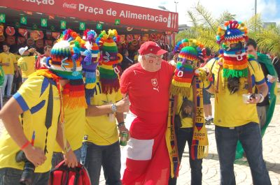Torcedores Copa Equador e Suiça