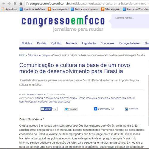 Cliping Congresso em Foco