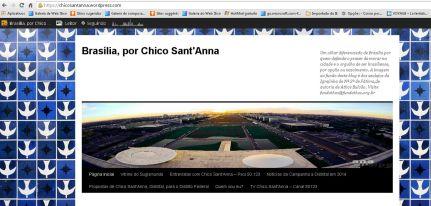 tela principal do blog