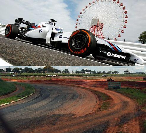 Fórmula INDY - fotomontagem carro e autódromo