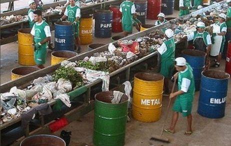 Reciclagem - sala de triagem