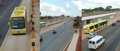 Estações do BRT-Sul na via EPIA estão fechadas há mais de dois anos. Foto de Chico Sant'Anna.