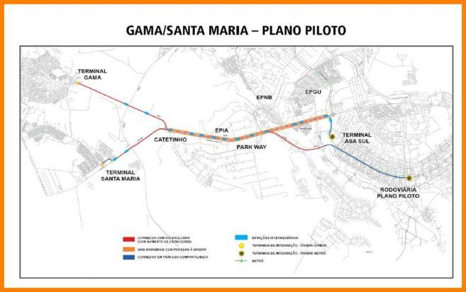 Planta BRT-Sul trajeto
