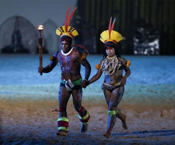 tocha jogos olímpicos indígenas Foto Rui Castro