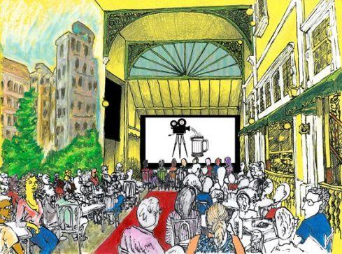 cenário festival de cinema