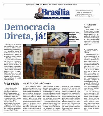 Publicado originalmente na coluna Brasília, por Chico Sant'Anna do semanário Brasília Capital