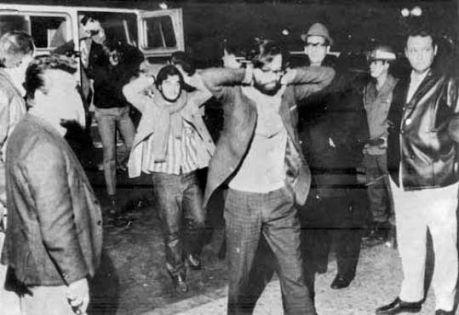 Honestino detido na Universidade de Brasília- ele presidiu a UNE em 1971, ano em que a entidade era clandestina. Foto Arquivo, CB, D.A. Press.