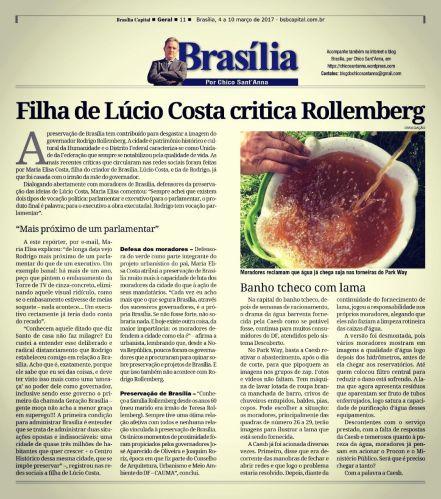 Publicado originalmente na coluna Brasília, por Chico Sant'Anna, do semanário Brasília Capital.